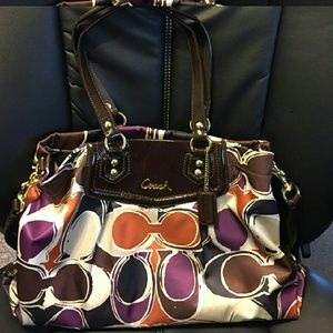 Coach Ashley hand drawn scarf print bag